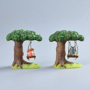 Аниме фигурка Тоторо и Мэй на качелях 2