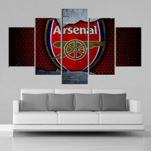 5 Pieces Premier League Football Canvas Paintings Arsenal Posters Sports Soccer Prints Wall Art Kids Room Home Decor