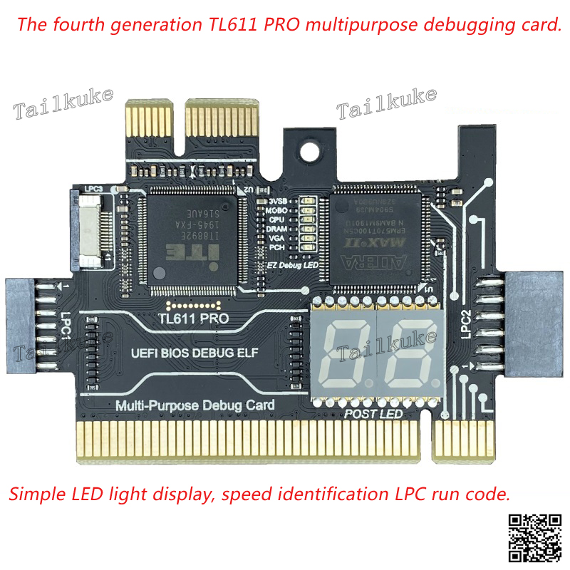 TL611 PRO Debug Card Desktop PCI Motherboard PCI E Notebook Diagnostic Card Test LPC DEBUG