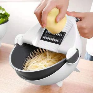 Image 5 - 9 In 1 Slicer Food Cutter Fruit Vegetable Chopper Grater Peeler With 7 Blades C63B