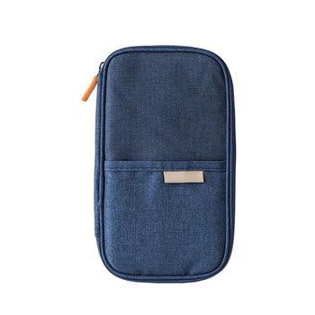 Zipper Passport Wallets Waterproof Polyester Travel Passport Holder Multi Pockets Travel Tickets Passport Cases