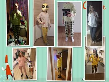 Pliktea Women Cotton Pajamas Set Cartoon Homewear Women Home Clothes Lounge Wear Long Sleeve Female Pajamas Cotton Sleepwear 2
