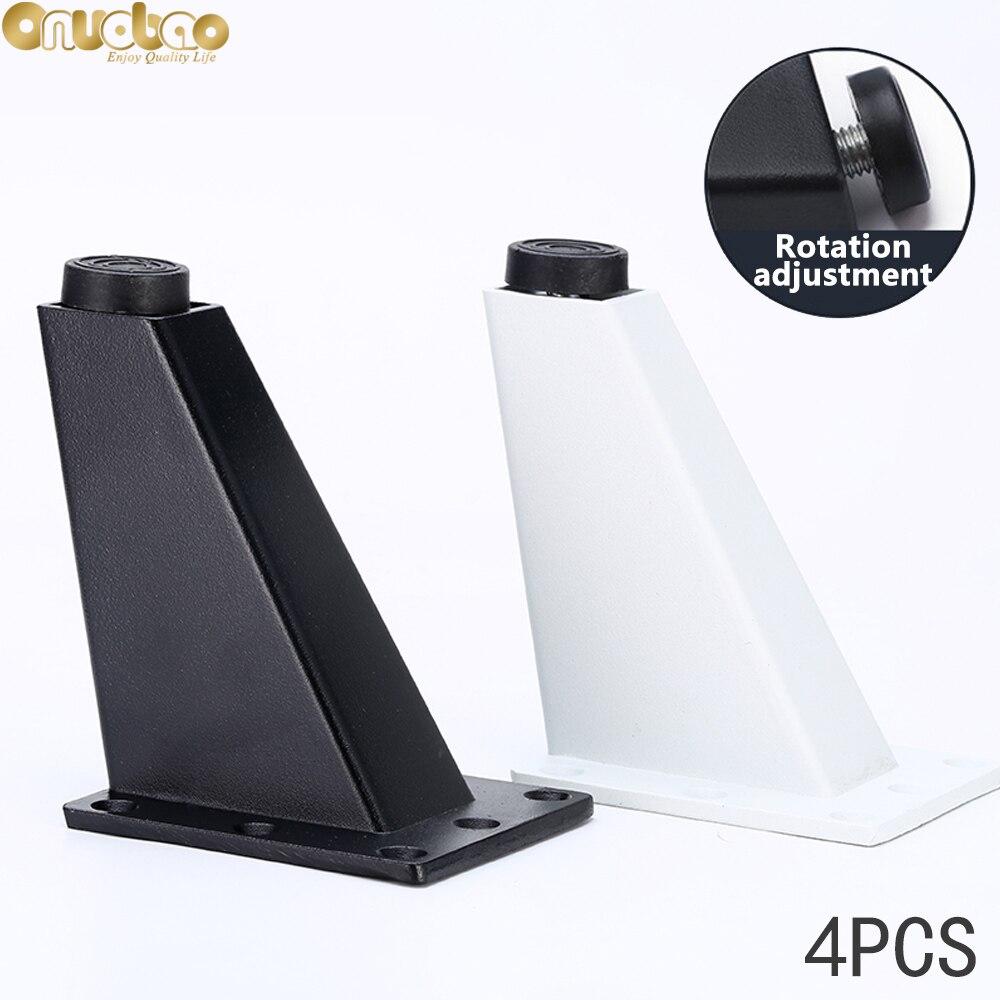 Купить onuobao 4 шт трапециевидной алюминиевая ножка диван высокого
