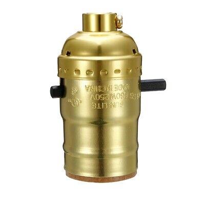 2Set Brass Finish Bottle Lamp Adapter Kit w Rubber Adaptors and US Plug 8ft Cord