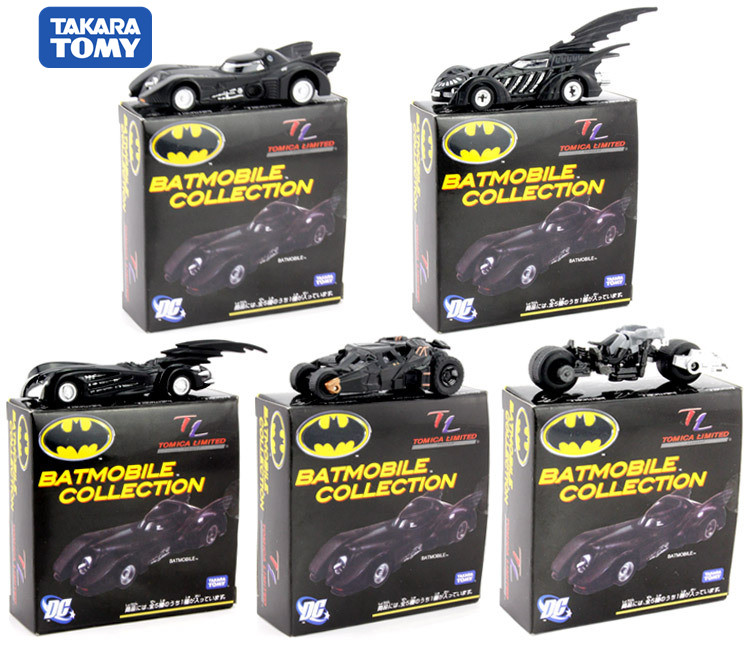 Original TAKARA TOMY Batman Metal Batmobile Chariot Collectible Alloy Car Models Toys With Gifts Box Toys For Children
