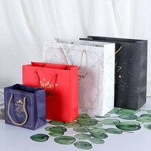 Gift Bag Souvenir Clothing Shopping-Paper-Bag Square Business Custom Creative Home Tote-Bag