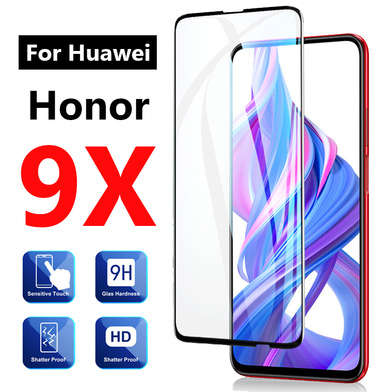 Cubierta completa de vidrio para Huawei Honor 9x Pro Protector de pantalla Huwei Honer x9 9 x pro 9xpro Vidrio Templado Artesanías de cristal personalizadas en miniatura con forma de corazón romántico, regalos de amor, accesorios de decoración para el hogar DIY