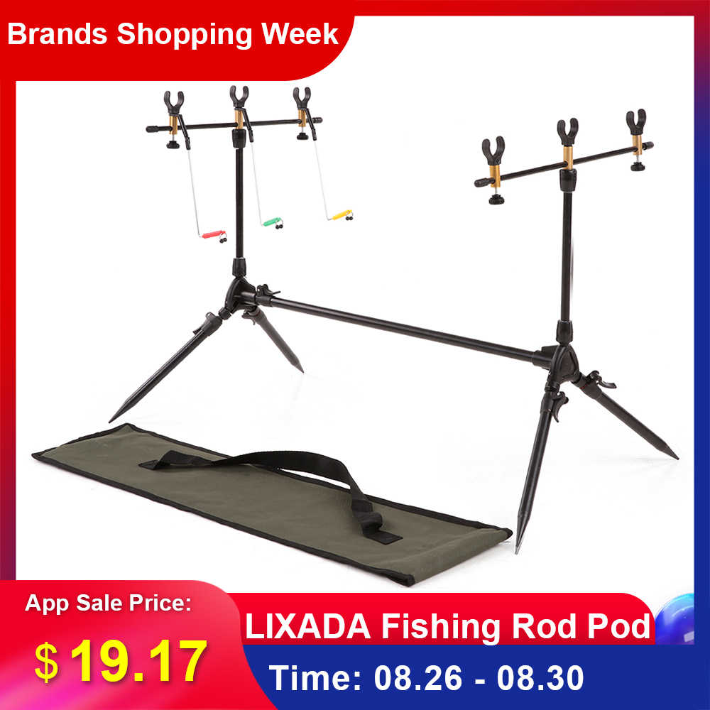 Lixada Fishing Rods Adjustable Retractable Carp Pod Stand Holder Fishing Pole Stand Tackle Accessory Bracket Carp for Pesca