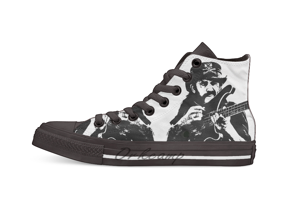 IAN FRASER LEMMY  KILMISTER  Novelty Design Casual Canvas Shoes Custom Shoes Drop Shipping