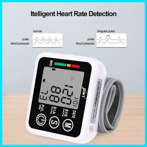 Image 5 - Ev sağlık tansiyon aleti kan basıncı ölçer monitör kalp hızı darbe taşınabilir akıllı kan basıncı ölçer JZK002R