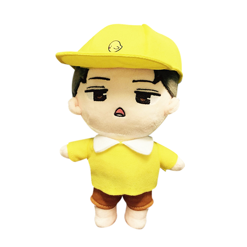23cm Korea Kawaii Plush Doll Toy Dolls Cartoon Character Childhood Stuffed Doll Fan Made PP Cotton Fans Gift Cute Collection Toy