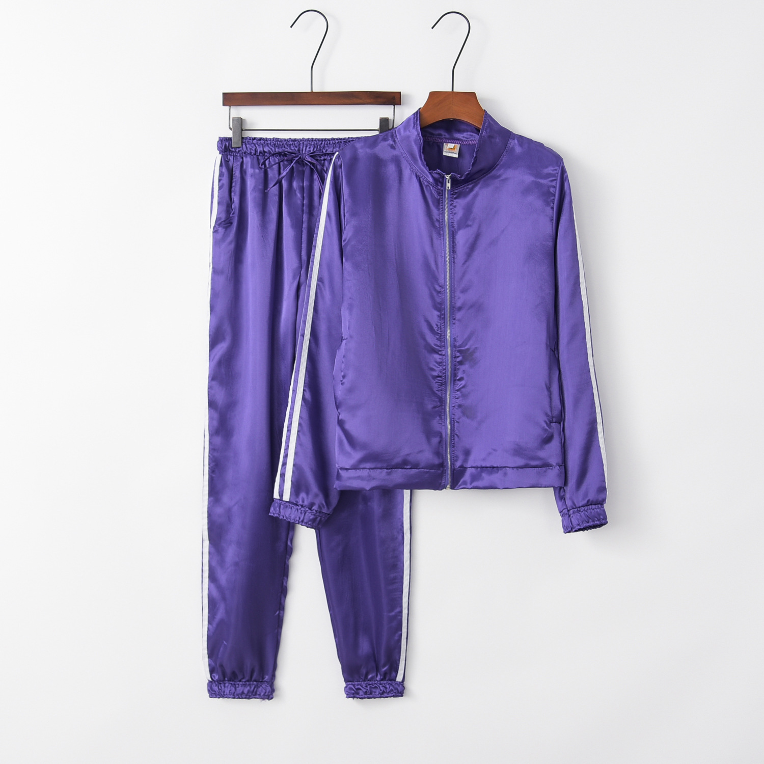 Purple Cute 2020 New Design Fashion Hot Sale Suit Set Women Tracksuit Two-piece Style Outfit Sweatshirt Sport Wear