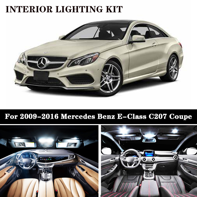 Fits Mercedes E-Class C207 E 220 CDI White 12-SMD LED COB Number Plate Bulb