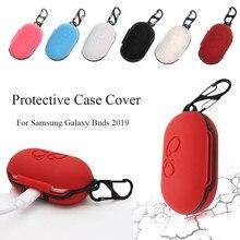 Pour Samsung Galaxy bourgeons 2019 étui porte clés pour Galaxy bourgeons couverture porte clés peau housse de protection Coque souple Etui sluchawki dans loreille