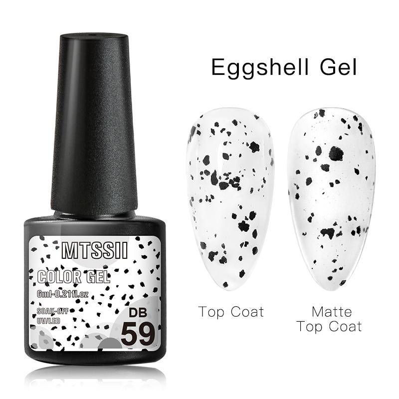 Mtssii  6ml Nail Gel Eggshell Gel Nail Polish Transparent Gel Soak Off Nail Art Gel  UV LED Varnish With Any Color Base Top Coat 9