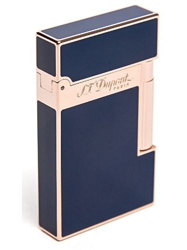 S.T. Dupont Linea 2Pink Gold & Blue Chinese Lacquer Lighter