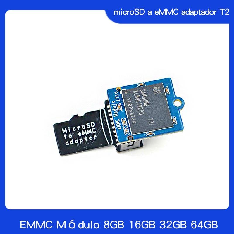 Original EMMC module 8GB 16GB 32GB 64GB  with microSD turn eMMC adapter|Demo Board Accessories| |  - title=