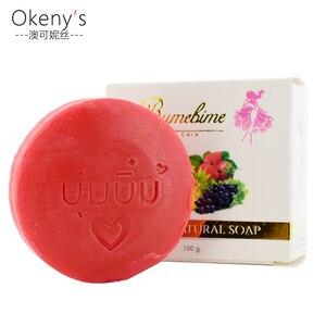 Тайское мыло Bumebime ручной работы, экстракт фруктов, Отбеливающее мыло, уменьшающее количество бактерий, вызывающих акне, черные пятна, для ва...