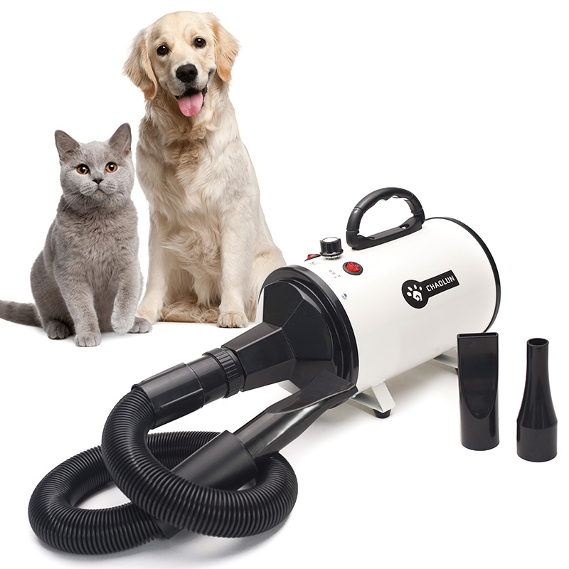 Pet Water Blower High Power Mute Large Dog Cat Special Dry Blowing Hair Artifact Hot/Cold air 220V Dog Cat Supplies