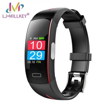 Smart Watch blood pressure wrist band heart rate monitor PPG ECG smart bracelet Activit fitness tracker intelligent wristband
