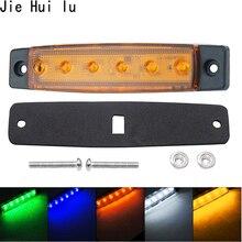 LED Lkw Seite Marker Anzeige Licht Blinker Lampe 12V 24V Auto Auto Bus Lkw Anhänger Schwanz Warnung lampe Bremsleuchten 6 LED