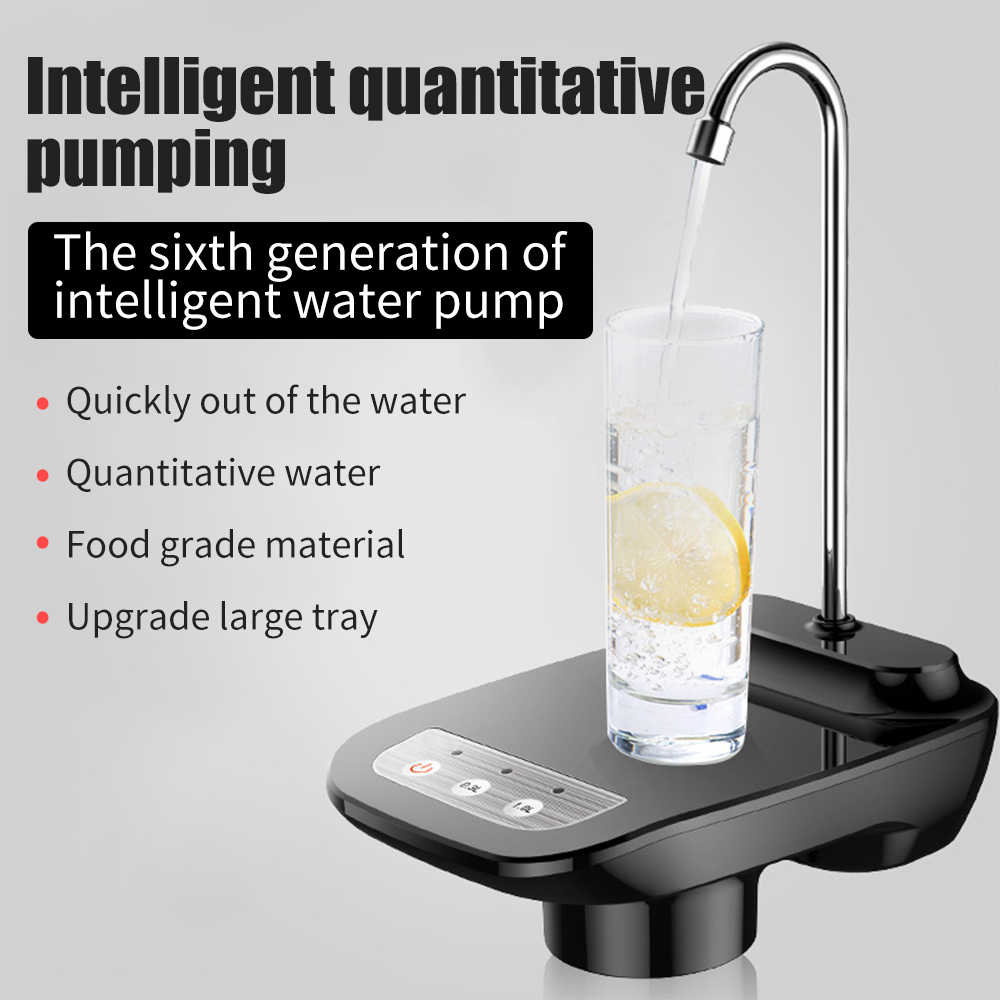 JRXyDfxn Durable USB Rechargeable Electric Water Pump Automatic Portable Travel Outdoor Electric Suction Bucket Water Pump Barrel Pump Color : 02
