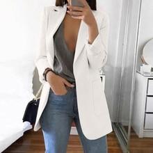 New Women Casual Long Sleeve Coat Suit Office Ladies Slim Cardigan Tops Blazer Jacket Outwear Women Clothing 2019 Oversize 5XL