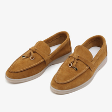 Ballets Flats-Shoes Women Moccasins Smile-Circle/cow-Suede-Loafers Slip-On Genuine-Leather