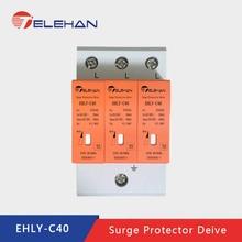 цена на TELEHAN Surge protection, Surge Protector,3P 10KA~100KA B/C/D ~385V Power Surge Protector, AC  House Surge Protector