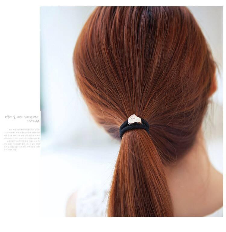 Большая высокоэластичная кожаная лента Черная обвязка для волос кожаный чехол простая резинка для волос для взрослых и плотная резинка для...