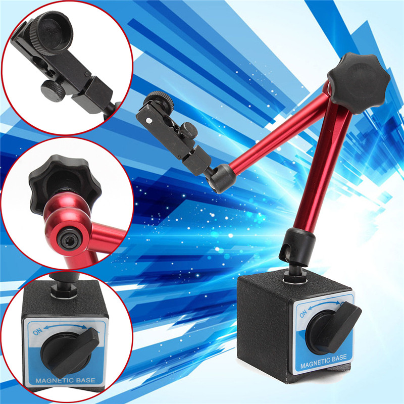 Total Height 350mm Big Universal ON/OFF Stand Base Flexible Magnetic Base Holder Stand Tool & Dial Indicator Test Tool