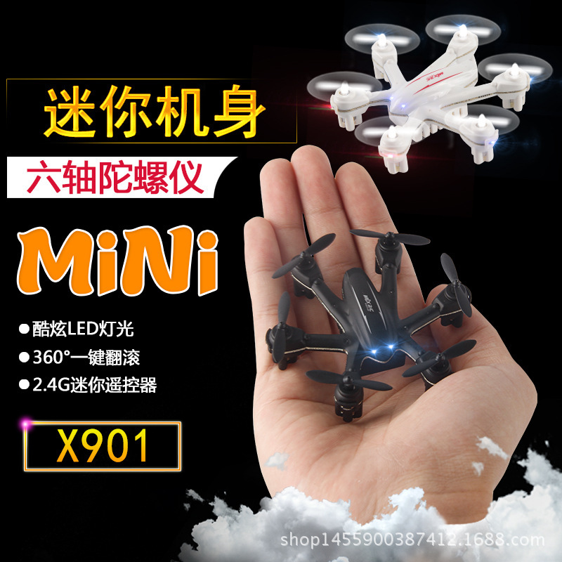Linda X901 Mini Six-Axis Unmanned Aerial Vehicle Aircraft Gravity Sensing Variable Speed Remote Control Aircraft Model Airplane