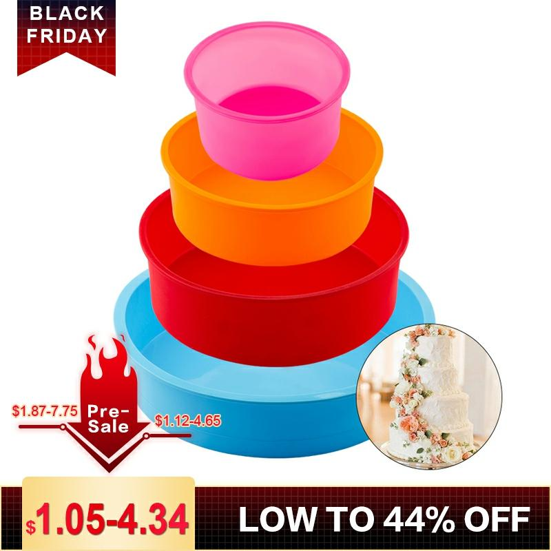 Random Color Silicone Cake Round Shape Mold Kitchen Bakeware DIY Desserts Baking Mold Mousse Cake Moulds Baking Pan Tools title=