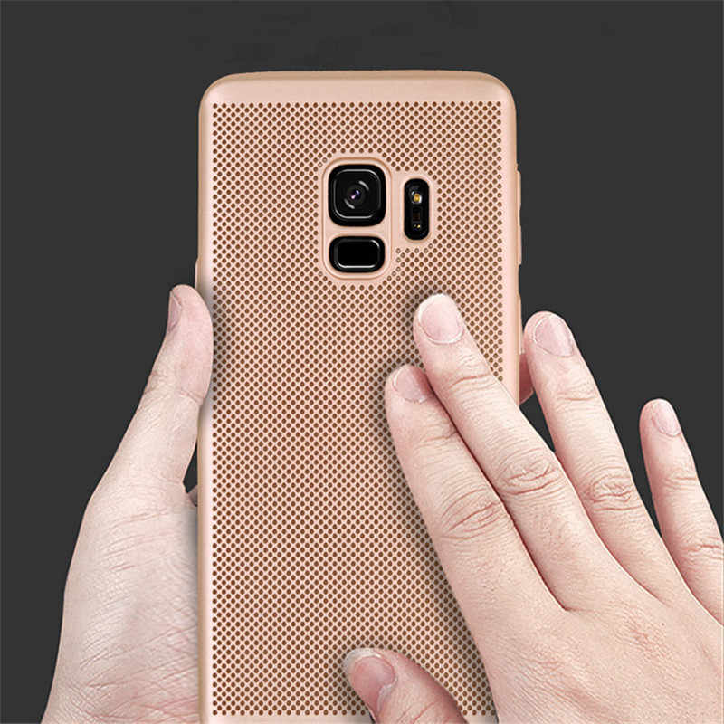 Làm mát Ốp Lưng Điện thoại Samsung Galaxy A3 A5 A8 J2 J3 J5 J7 Prime 2017 S5 S6 S7 Edge S8 s9 Plus Full Dẻo