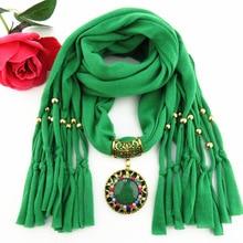Alloy jewelry pendant scarf quick sale new hot color diamond womens