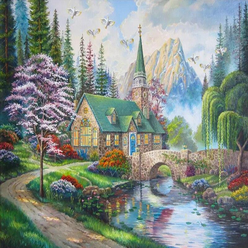 Custom-Photo-Wallpaper-European-Style-3D-Country-Bridge-Forest-Murals-Living-Room-TV-Sofa-Study-Background (3)