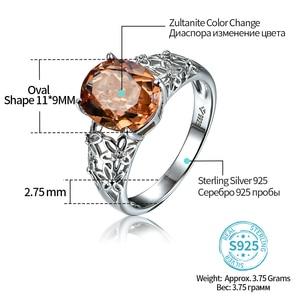 Image 2 - Zultanite cor mudou pedra anel de prata feminino design especial anel de casamento 6 quilates criado diaspore prata anel de noivado