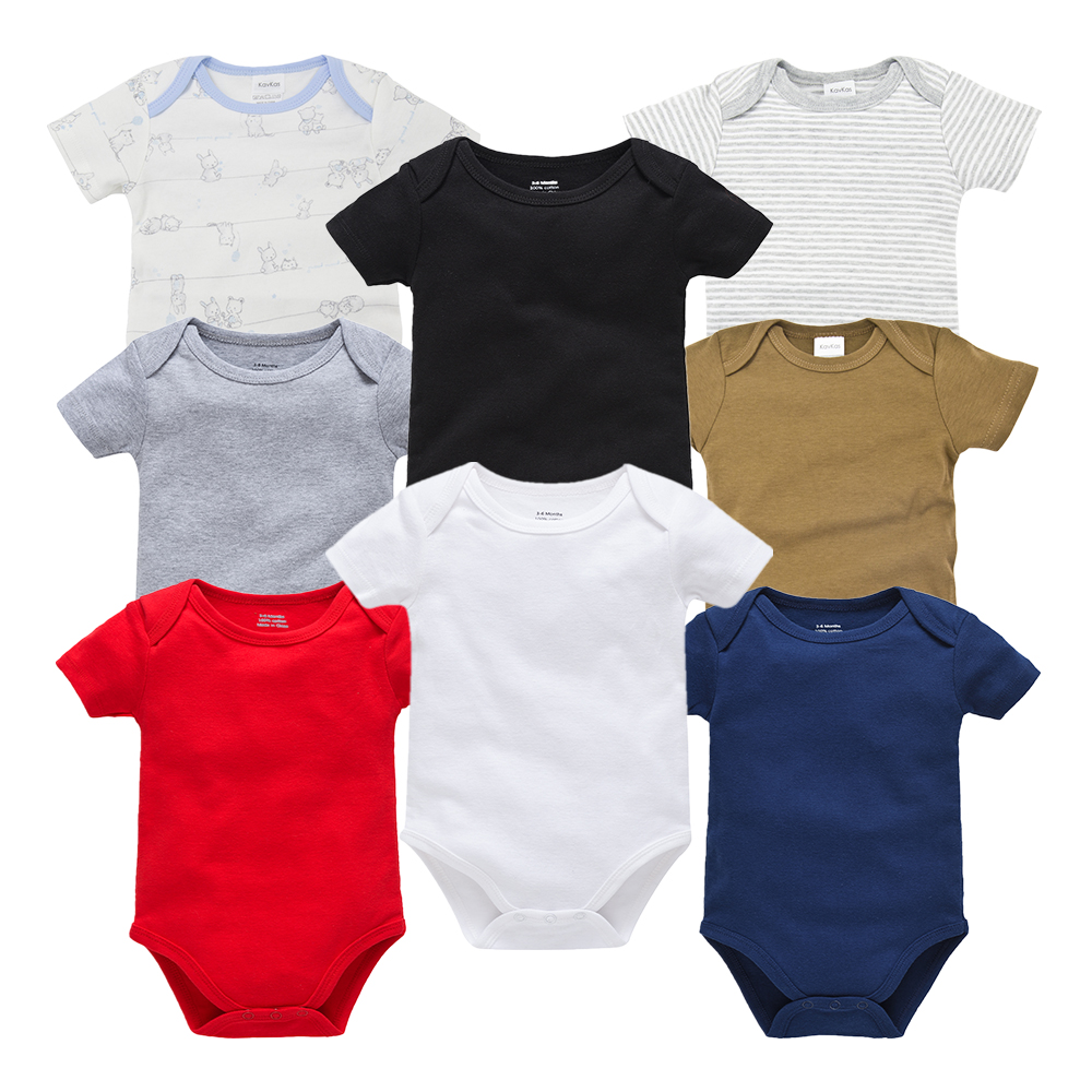 Newborn Boy Photography Props New Baby Girl Clothes Cotton Baby Bodysuits Bebe Boy Clothes Body For Infants 8PCS/lot New 0-1Year
