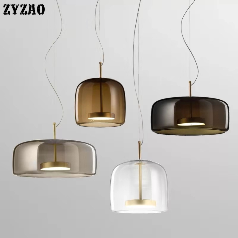 Modern Glass Restaurant Pendant Lights Simple Bar Living Room Home Decor Hanglamp Bedroom Bedside Lamps Designer Lights Fixtures