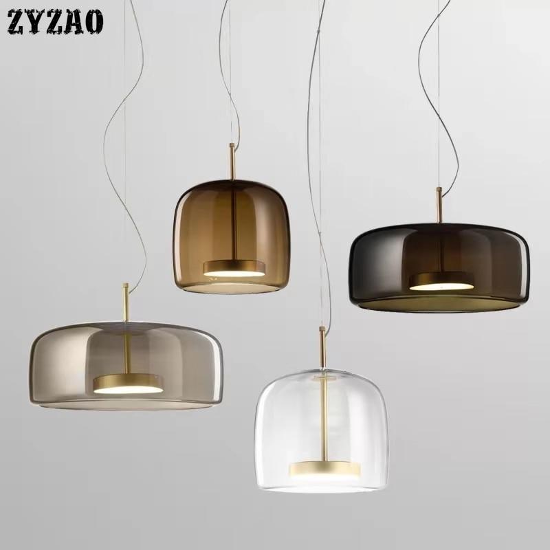 Modern Glass Restaurant Pendant Lights Simple Bar Living Room Home Decor Hanglamp Bedroom Bedside Lamps Designer Lights Fixtures|Pendant Lights| |  - title=