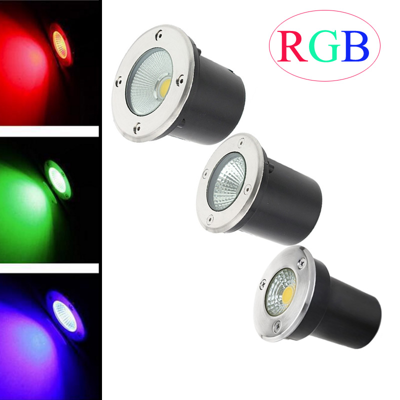 RGB LED Underground Light 3W 5W 10W Garden Lamp Outdoor Waterproof LED Step Lights12V LED Deck Lights LED Spotlight 110 220V