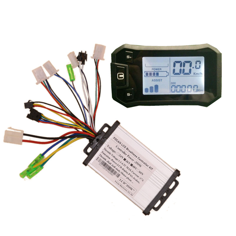 Electric Bicycles intelligent <font><b>24V</b></font> 36V 48V Display ebike LCD Control Panel Meter with Brushless <font><b>DC</b></font> <font><b>motor</b></font> controller 350W <font><b>450W</b></font> image