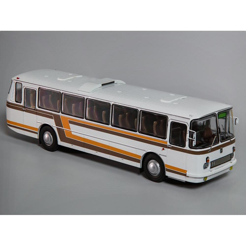 Scale Model 699R White With Colored Stripes 1:43 Classicbus Bus Toy Retro Soviet