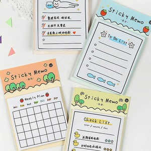 30 Sheets Cartoon Day Weekly Plan To Do List Sticky Note Memo Pads Stationery Notepad