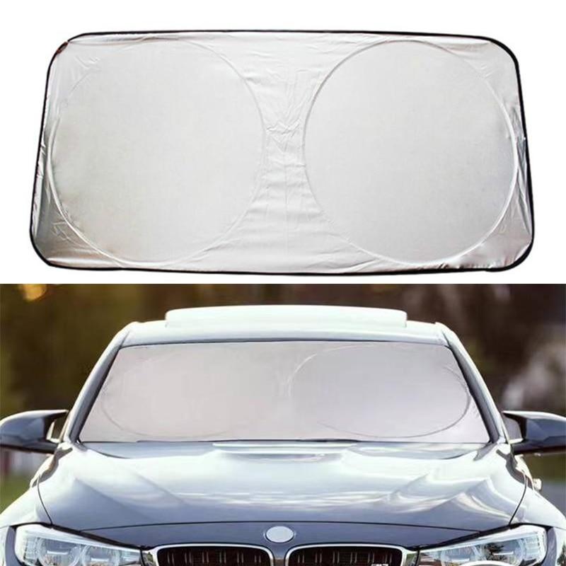 Windshield-Block-Cover Sunshade Jumbo Auto-Visor Folding Car-Styling Front Rear 150--70cm