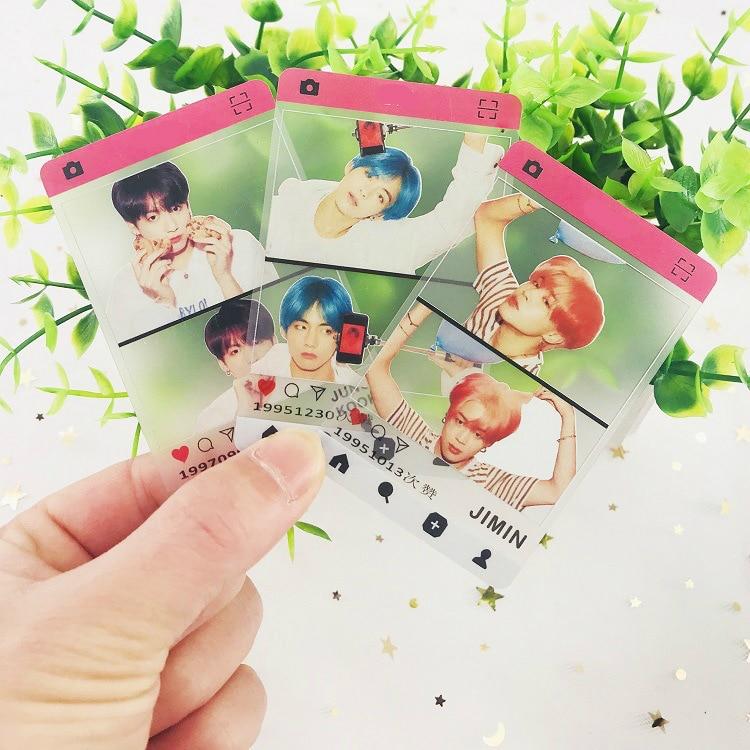 7 Pcs/set New Kpop Bangtan Boys Transparent Photo Lomo Cards Photocard Gift For Bangtan Fans JUNG KOOK JIN J-HOPE