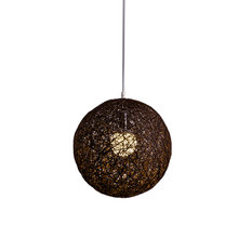 Кофейный бамбук ротанговая и конопляная шариковая люстра индивидуальное