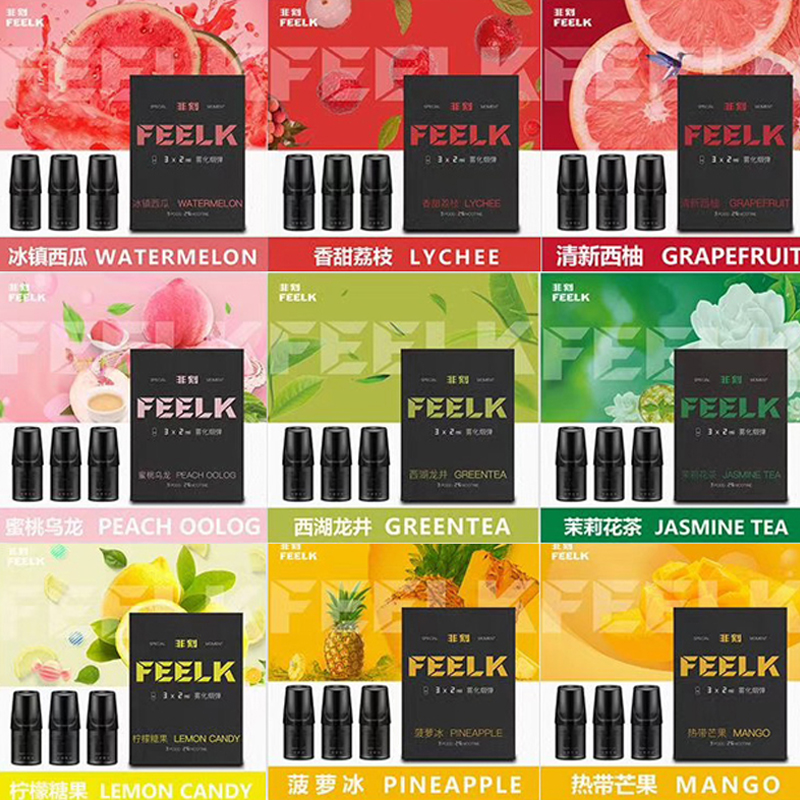 Original Feelk Cartridge Vape Pods 2ml Ice Watermelon PineApple For Relx Vape Device Pen Electronic Cigaretees