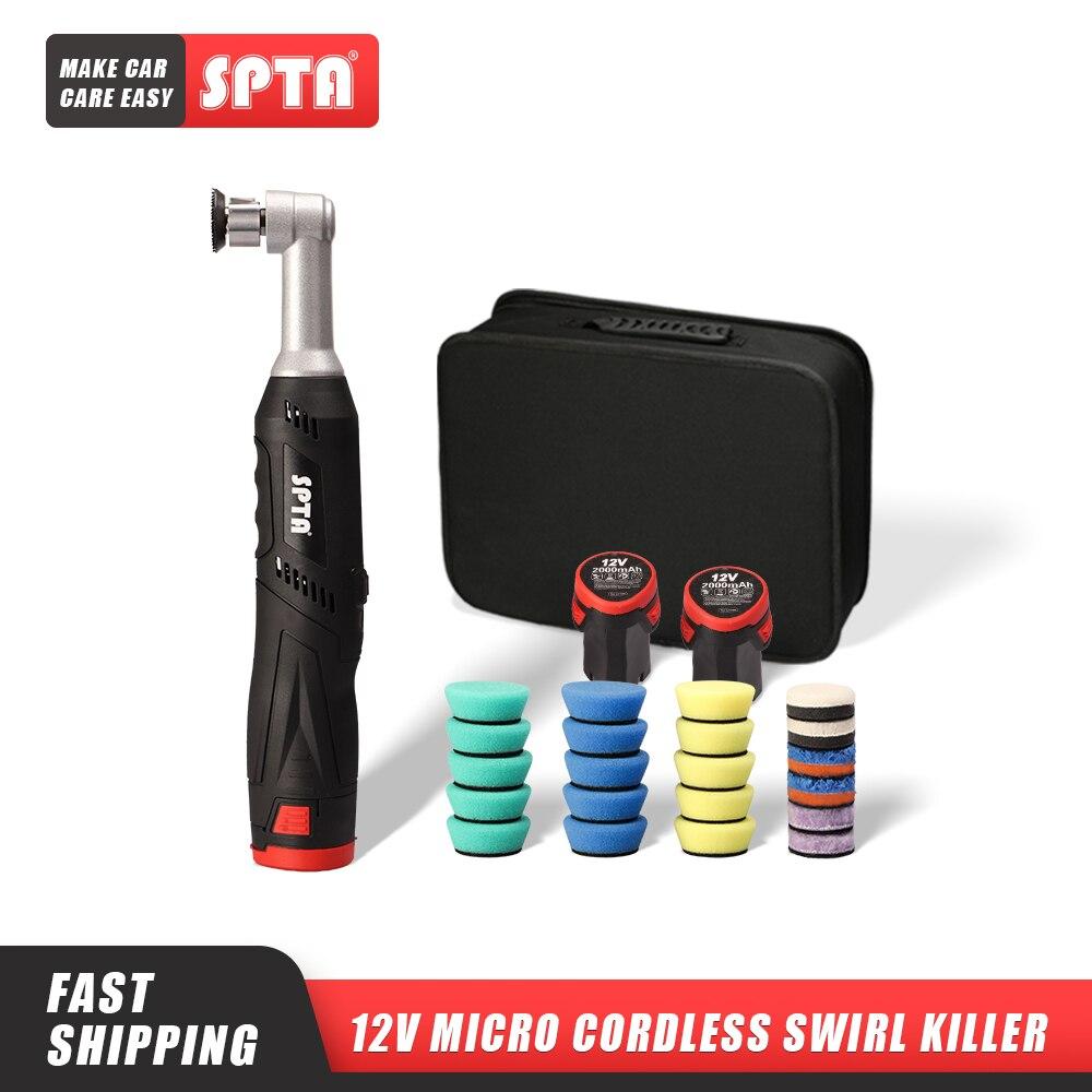 Беспроводной миниатюрный полировщик SPTA 12 В для автомобиля, устройство для полировки, шлифовки и очистки