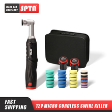 SPTA 12V Micro Cordless Swirl Killer Mini Dual Action Car Polisher RO/DA for Polishing, Sanding and Cleaning
